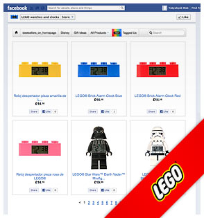 Lego Watches and Clocks on Facebook